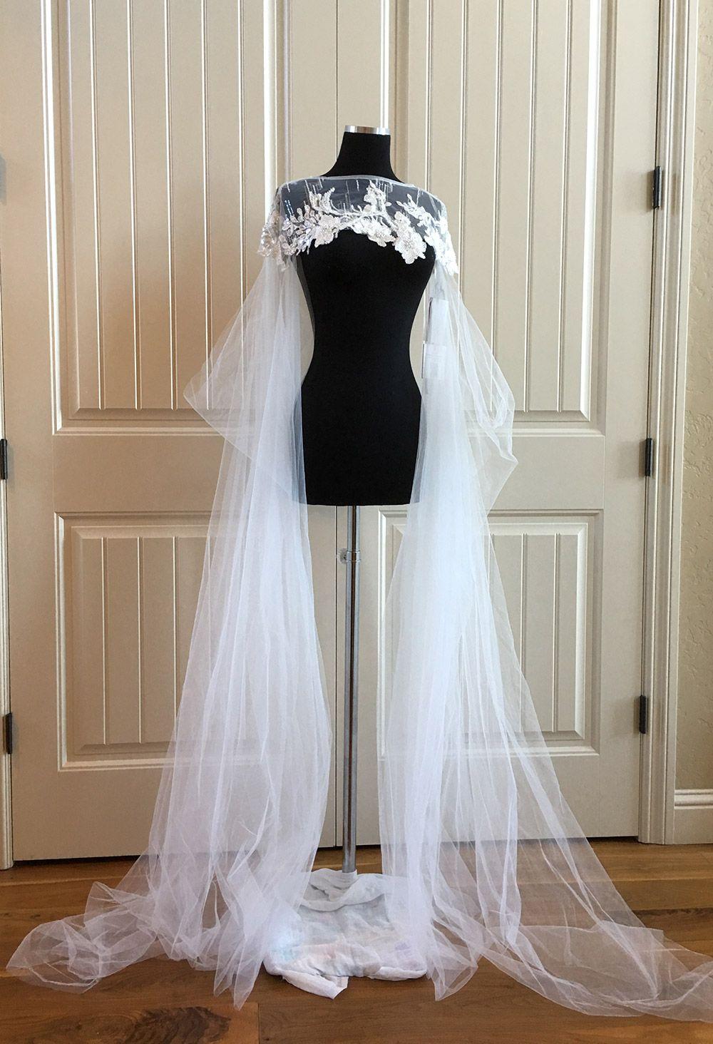 Milla Nova Cape Elle (With images) Wedding dresses