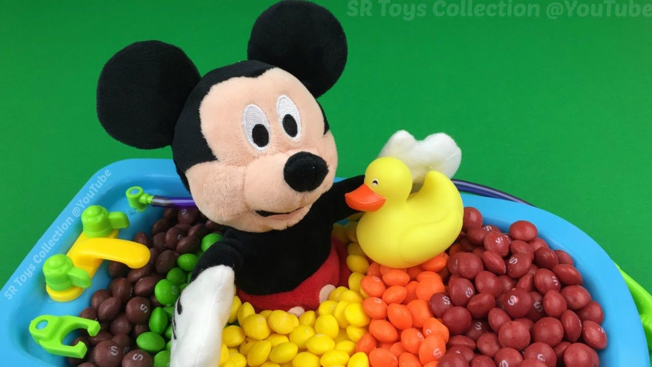 Minnie and Mickey Mouse Candy Buckets Hide & Seek Toys Angry Birds ...
