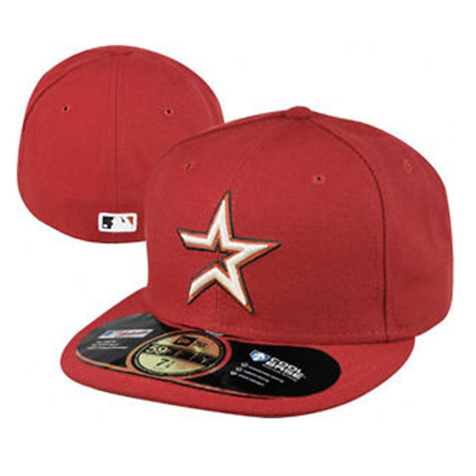 2ac83ca63c8 Houston Astros Team Logo New Era 59fifty Cool Base Fitted Hat Crimson