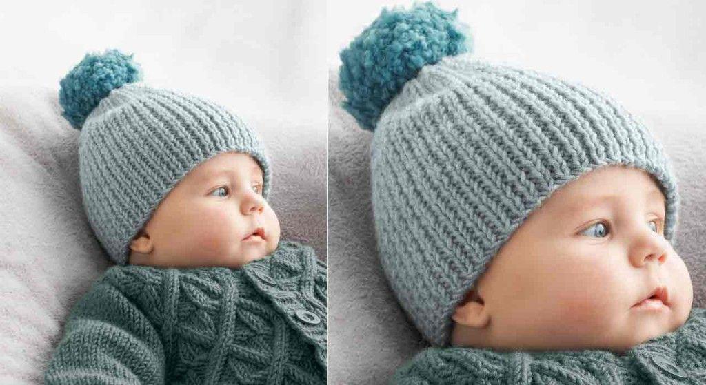 Le bonnet en côtes pour bébé   Tricot 3cfec4c4000