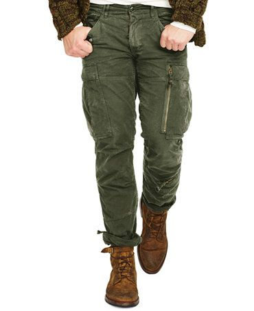 b515570757188 Polo Ralph Lauren Straight-Fit Military Cargo Pants - Pants - Men - Macy s
