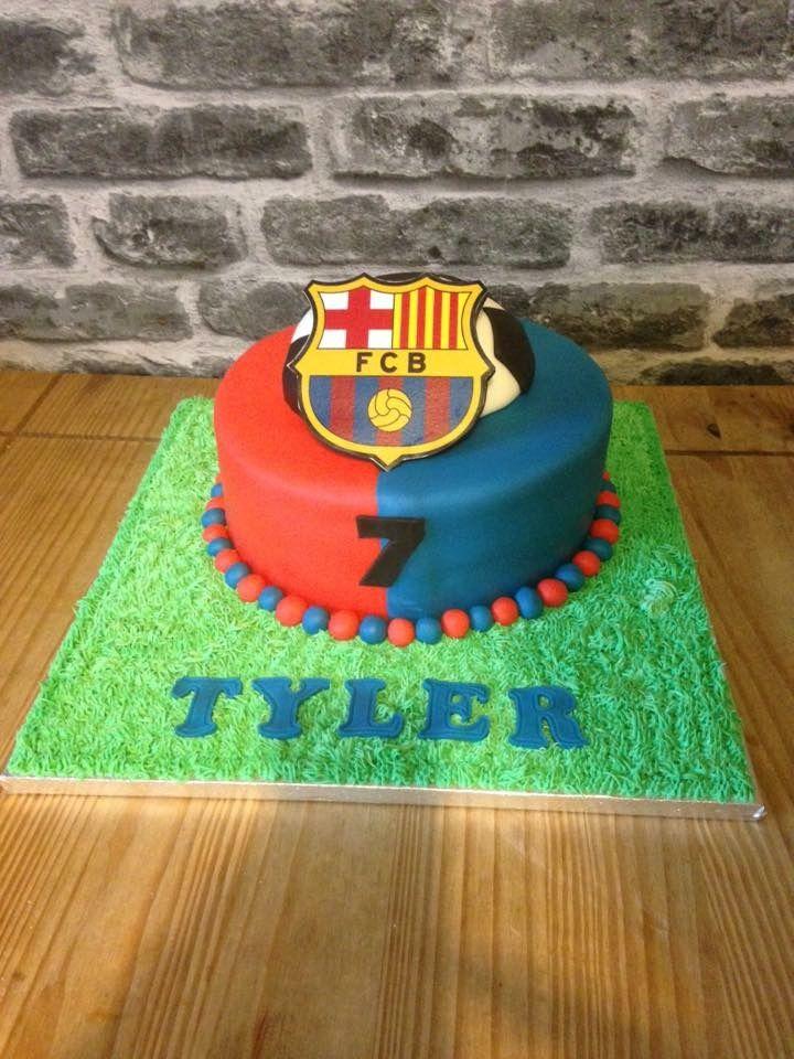 Fcb football cake football cake cake birthday cake