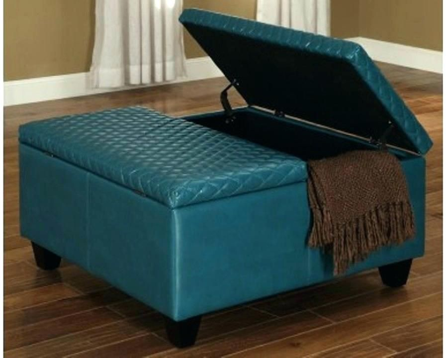 Storage Ottoman Plans Large Leather Ottoman With Storage Coffee