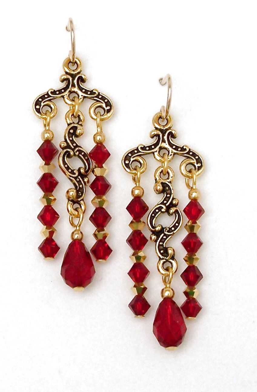 03 04 385 red crystal chandelier earrings keepsake minuet 03 04 385 red crystal chandelier earrings keepsake minuet aloadofball Choice Image