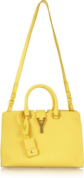 c19853858e6b Yves Saint Laurent The Cabas Small Leather Shoulder Bag - Lyst ...