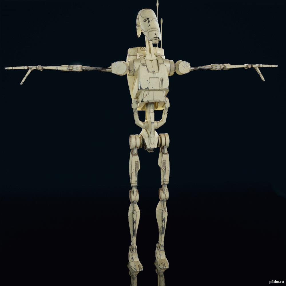 Star Wars Battlefront Ii B1 Battle Droid Pack 3d Models Battle Droid Star Wars Battlefront Battlefront