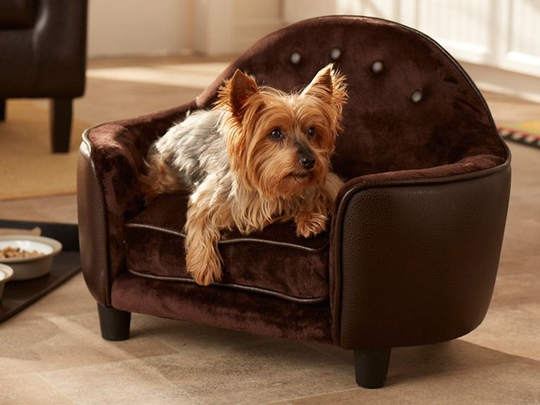 Ultra Plush Headboard Bed Pebble Brown Bed, Dog bed, Plush