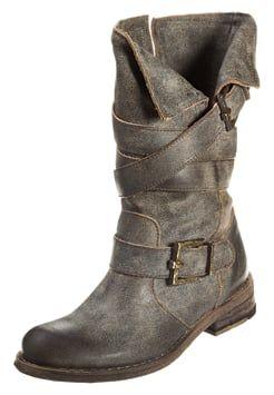 Felmini GREDO - Cowboy/Biker boots - vintage black
