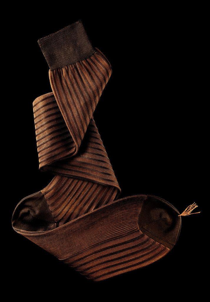 William Abraham - Luxury Socks for Men ● BROWN / COPPER
