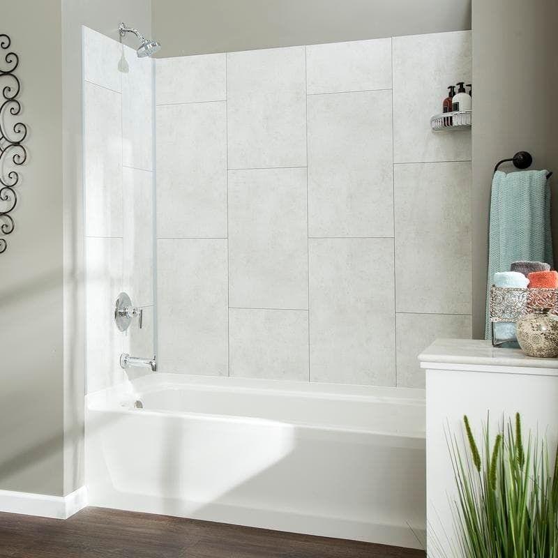 Dumawall Wintry Mix Shower Kit In 2020 White Tile Shower Shower