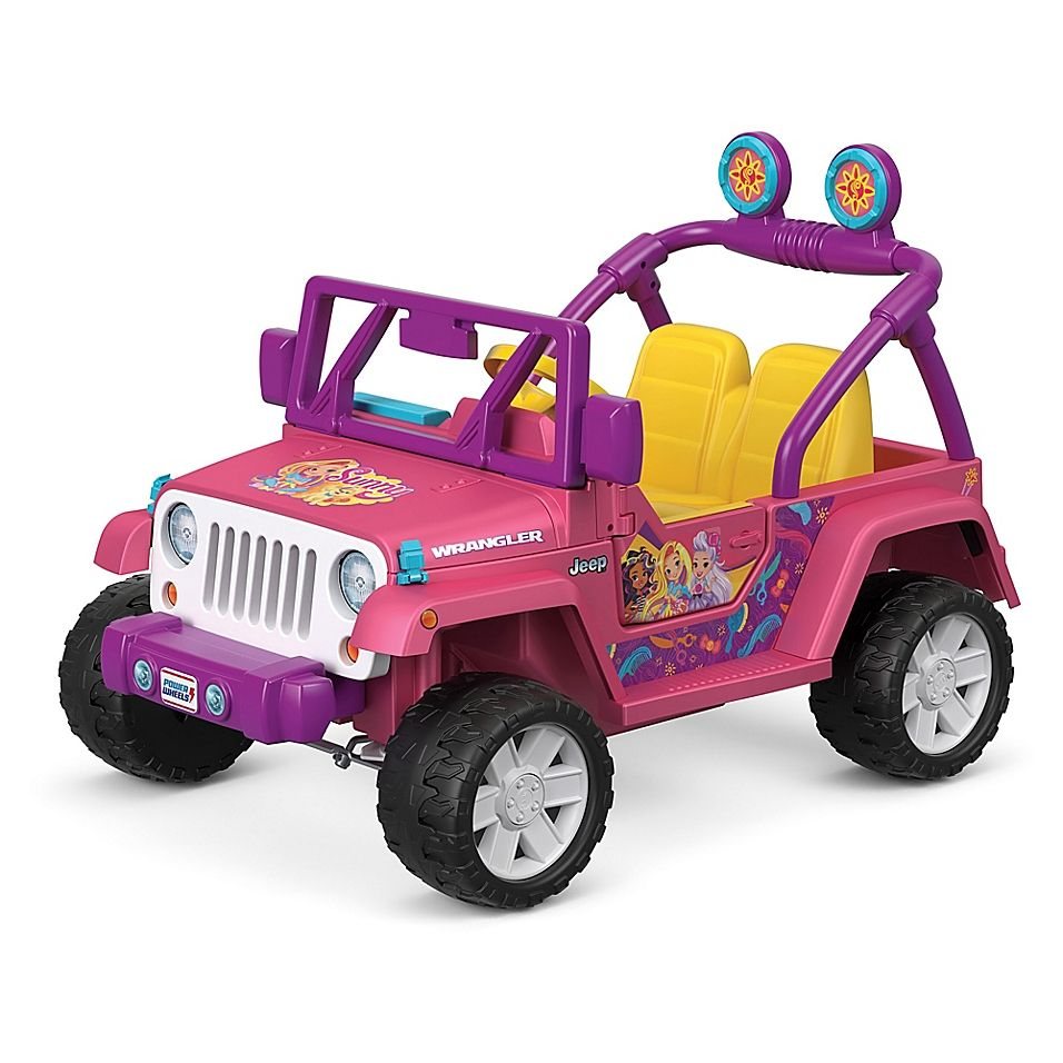 Fisher Price Power Wheels Sunny Day Jeep Wrangler In Pink Brinquedos Bonecas Criancas