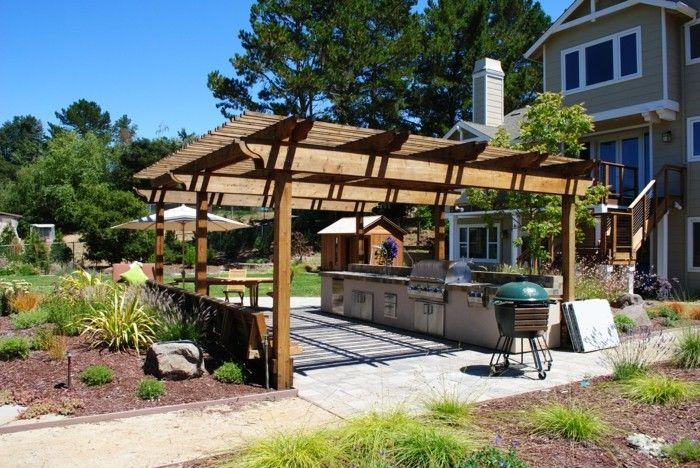Outdoor Küche macht es möglich, köstliches Essen draußen zu genießen   Outdoor küche, Outdoor ...
