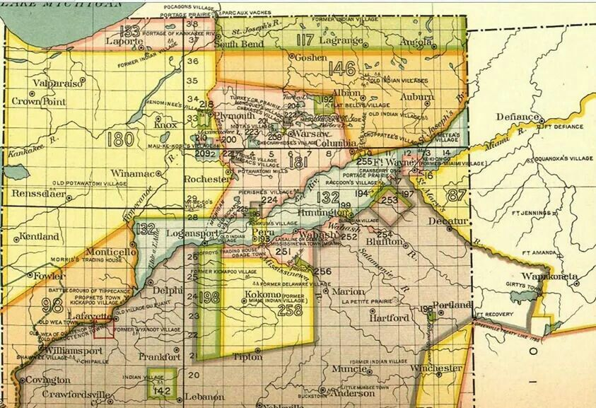 Old map of Indiana Map, Old map, Columbia city