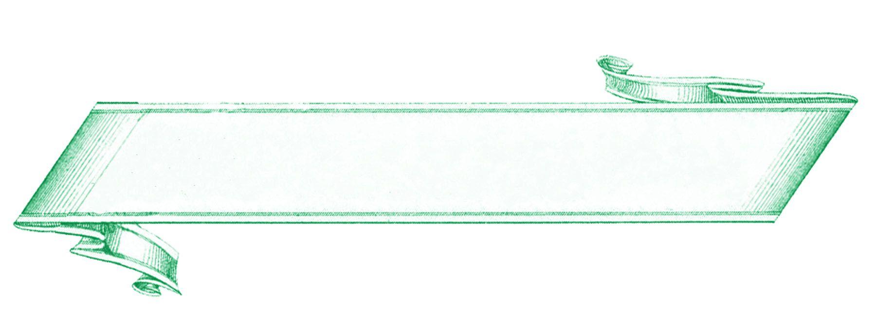 Französisch Banner Etikett Grün