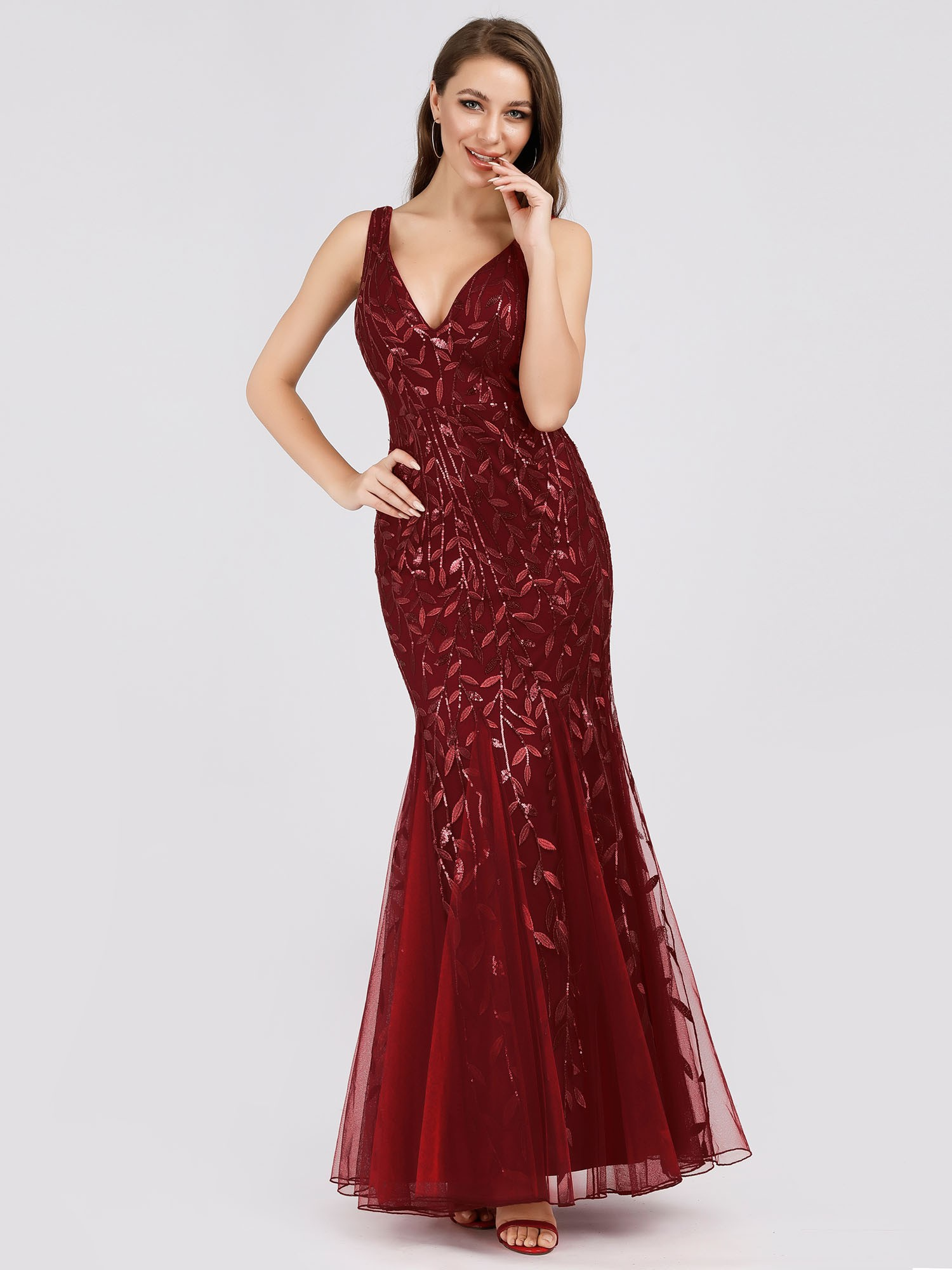 Ever-Pretty US Bodycon Cocktail Gowns Sequins Wedding Formal Party Dress 07886