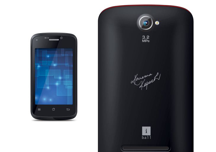 iBall AndiKKe Smartphone phone with Kareena Signature