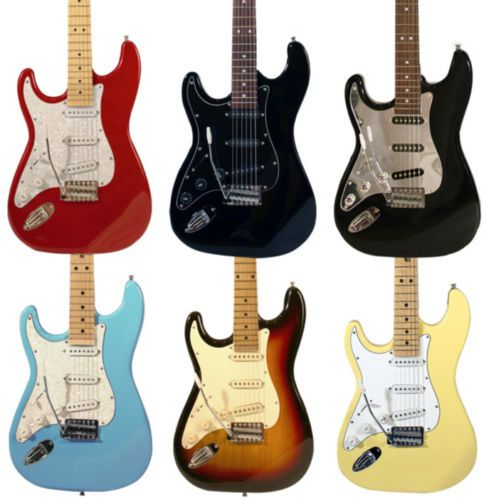 Left Handed Electric Strat Guitar Beginner Starter Pack