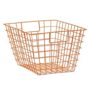 21 Great Value New Buys for Your Home: Wire Storage Basket - Orange $9, from Kmart, via WeeBirdy.com.