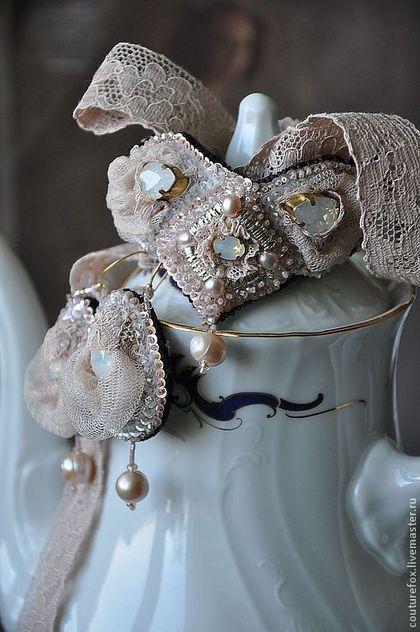 """Комплект """"Мария Антуанетта"""" - кремовый,мария антуанетта,нежность,нежное украшение"""
