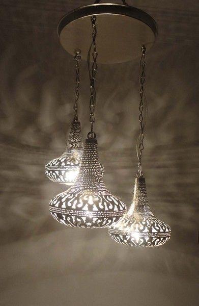 Moroccan 3 In 1 Pendant Chandelier Lamp Ceiling Light Fixture Marokkanische Lampe Marokkanische Pendelleuchte Hangeleuchte