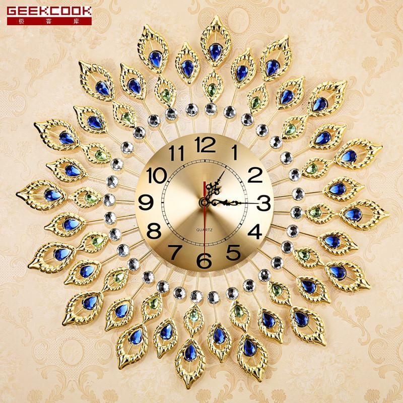 Creative Peacock Wall Clock Clock Wall Art Wall Clock Design Clock Art
