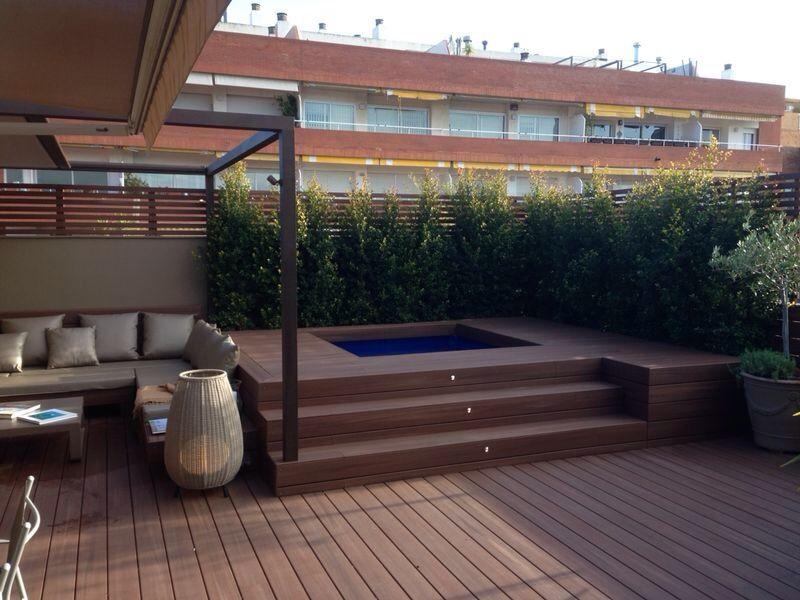 Dise o terrazas dise o exteriores decoraci n exteriores - Minipiscinas para terrazas ...