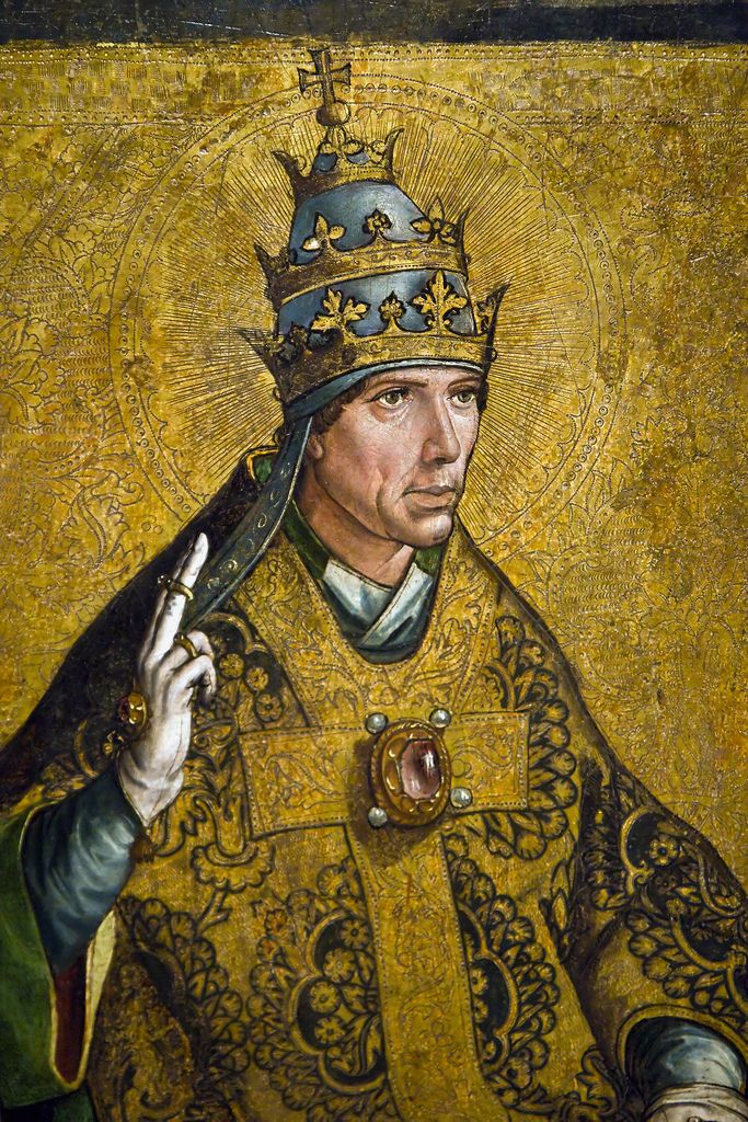 https://flic.kr/p/8Xmxme | accountant | Pope Saint Gregory the Great by Pedro Berruguete (c.1495).  Things that caught my eye in the gothic collection of the Museu Nacional d'Art de Catalunya.