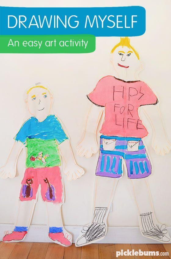 Drawing Myself Art Craft Diy For Kids Easy Art For Kids