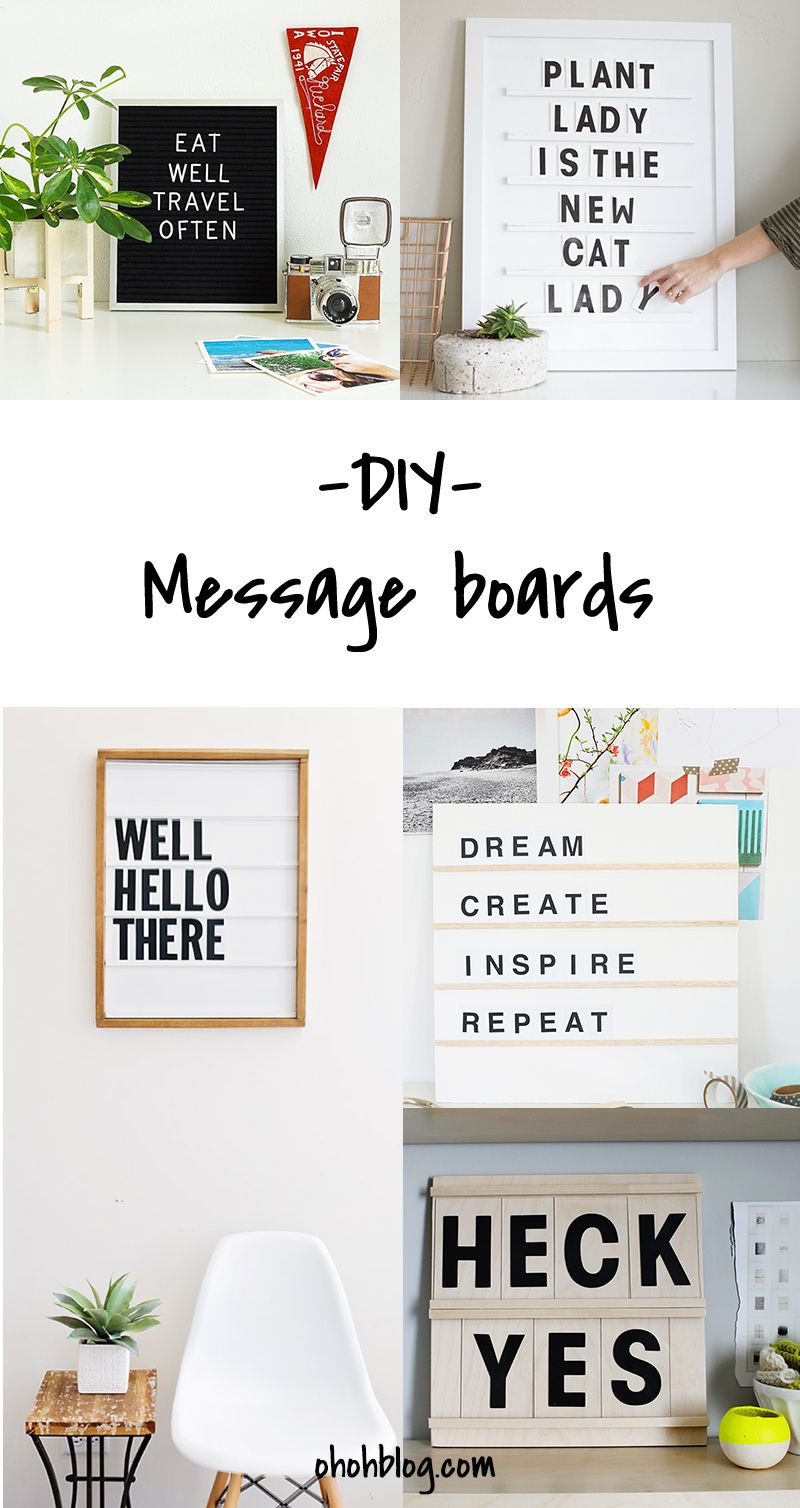 Diy To Try Message Board Home Accessories