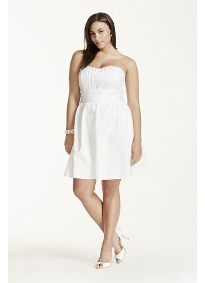 Short Strapless Cotton Sa Dress Int83312