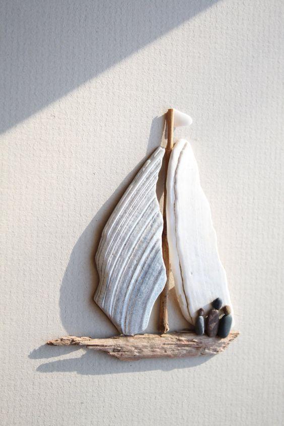 Photo of BUY or DIY:  Pebble Art of Nova Scotia by Sharon Nowlan by PebbleArt on Etsy❤️   Sea glass art, Pebble art, Stone art