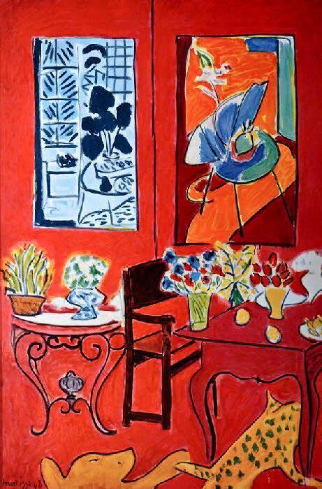 Onwijs Henri Matisse - Grand interieur rouge, France, 1948 | Matisse QX-89