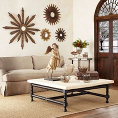 Starburst Mirrors Over Couch Google Search Mirror Wall Living Room Mirror Wall Sunburst Mirror