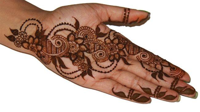 Front Hand Henna Mehndi Design : Cool full hand mehndi designs step by fashi