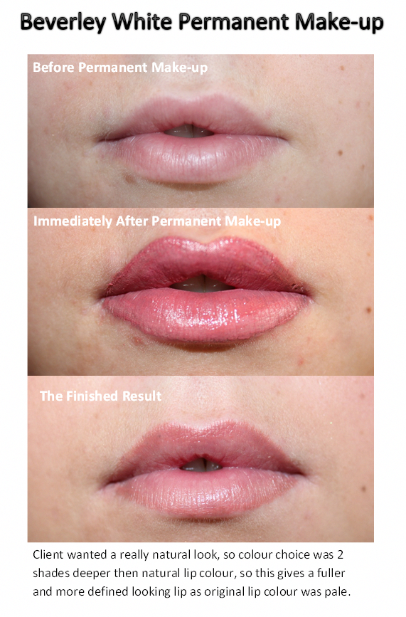 Permanent Makeup Lip Blush Colour with fade up to 50 to