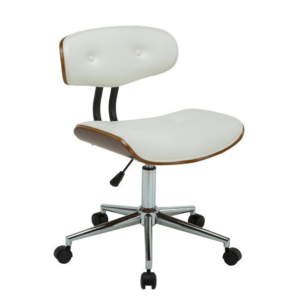 George Oliver Bloomfield Adjustable Office Low Back Drafting Chair Color:  White