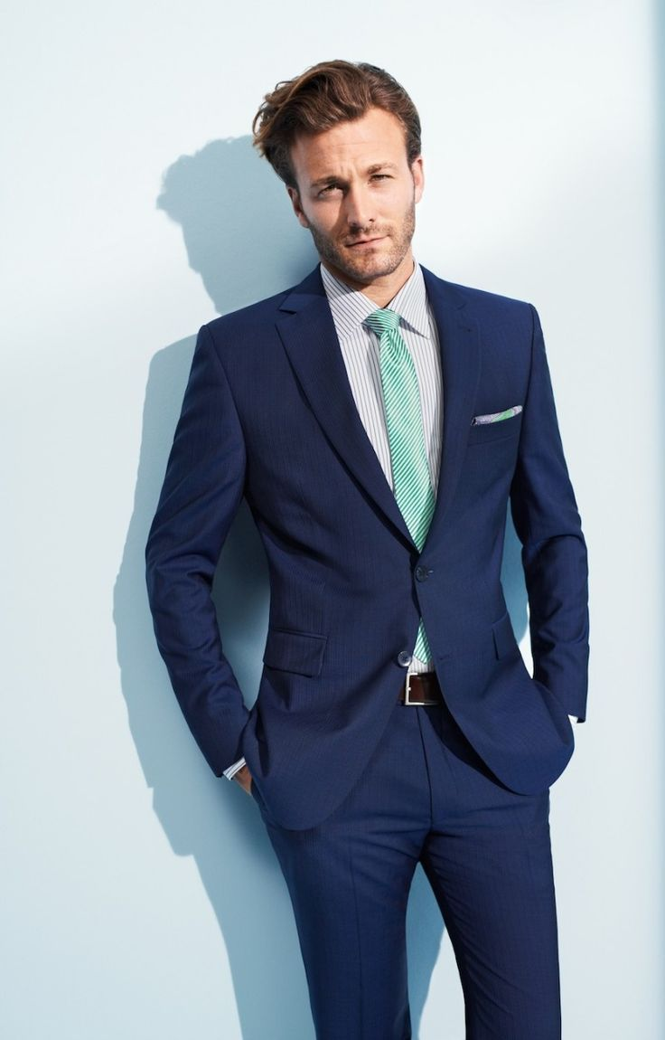 Here\'s a navy tux with the mint (closet color to Tiffany blue I ...