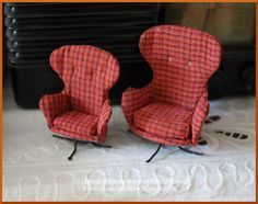 how to: miniature upholstered chairs