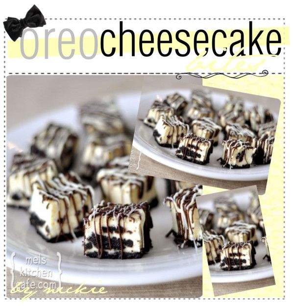 """oreo cheesecake bites♥"" by the-amazing-tip-chickas ❤ liked on Polyvore"