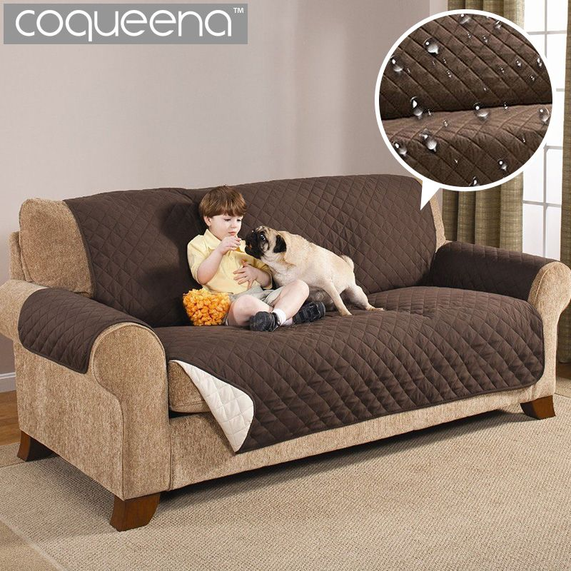 Waterproof Quilted Sofa Couch Covers Cloak Furniture Protector For