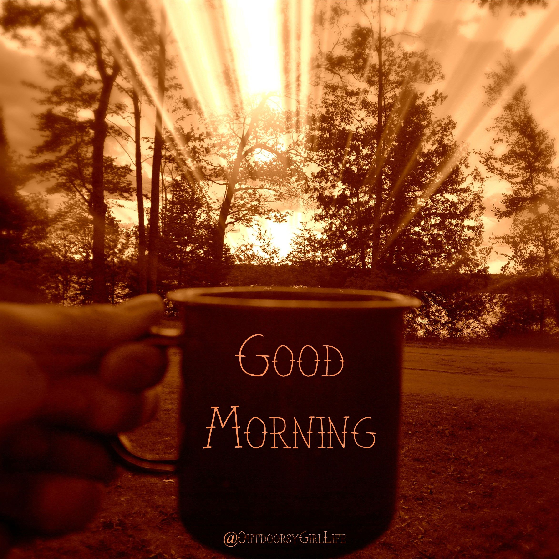 Hello monday have a great week love image collections - Sunshine Coffee Camping Outdoorsy Good Morning Hope Your Day Is Good Love You