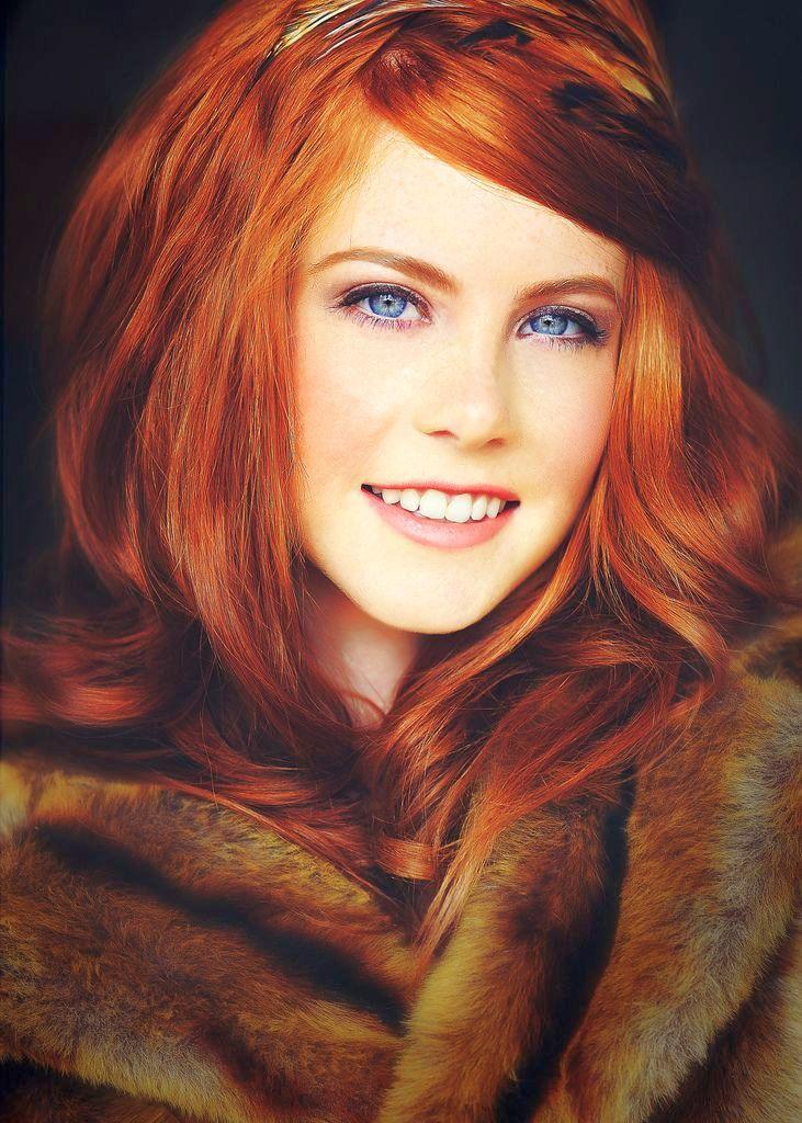 Покрасить в рыжий цвет мелированные волосы