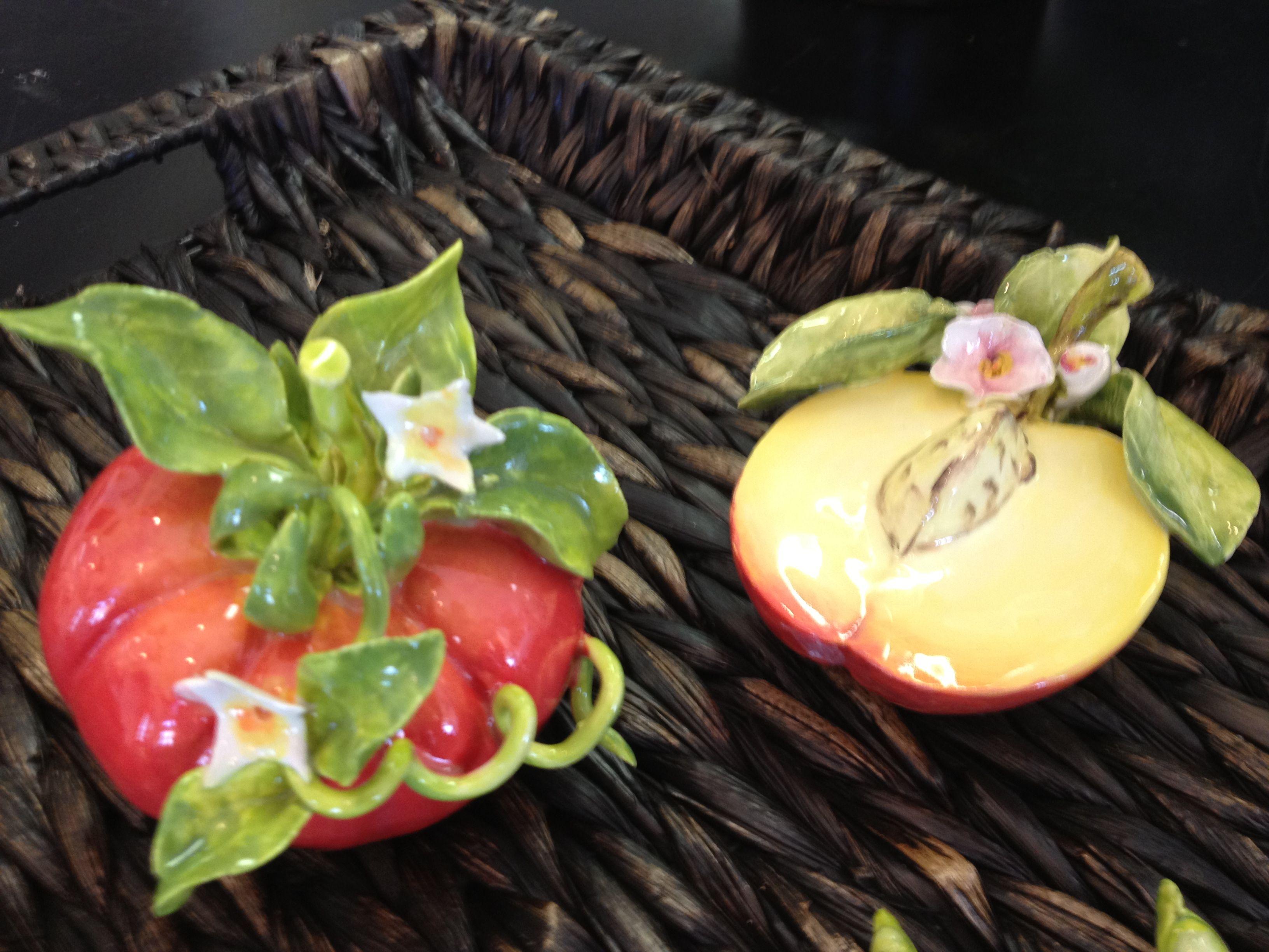 Eva Gordon Tomato With Blossom Half Peach With Blossom Beautiful