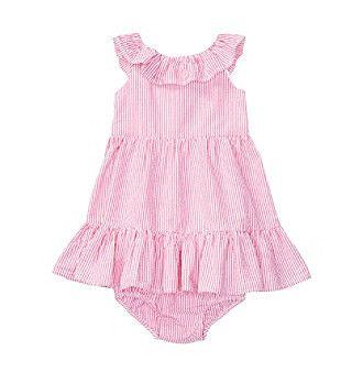 Ralph Lauren® Baby Girls' Ruffle Dress