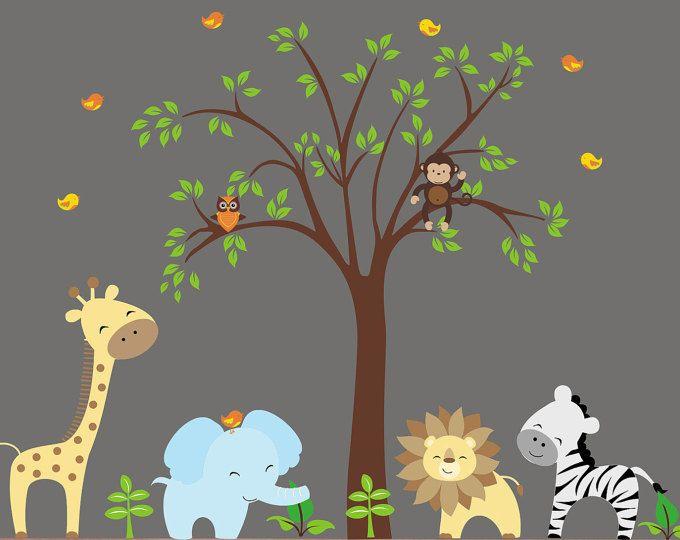 Safari Decals For Boys Or S Nursery