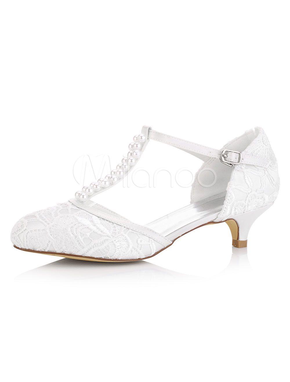 White Wedding Shoes Kitten Heel Pearls Satin T Type Bridal Shoes Vintage Shoes Kitten Heel Shoes Vintage Shoes Kitten Heel Wedding Shoes