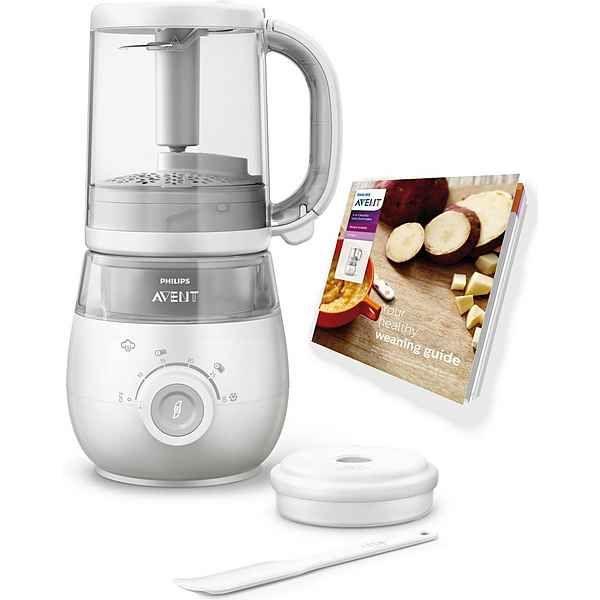 Philips Avent, 4-in-1 Babynahrungszubereiter SCF875 02, Dampfgarer - philips cucina küchenmaschine