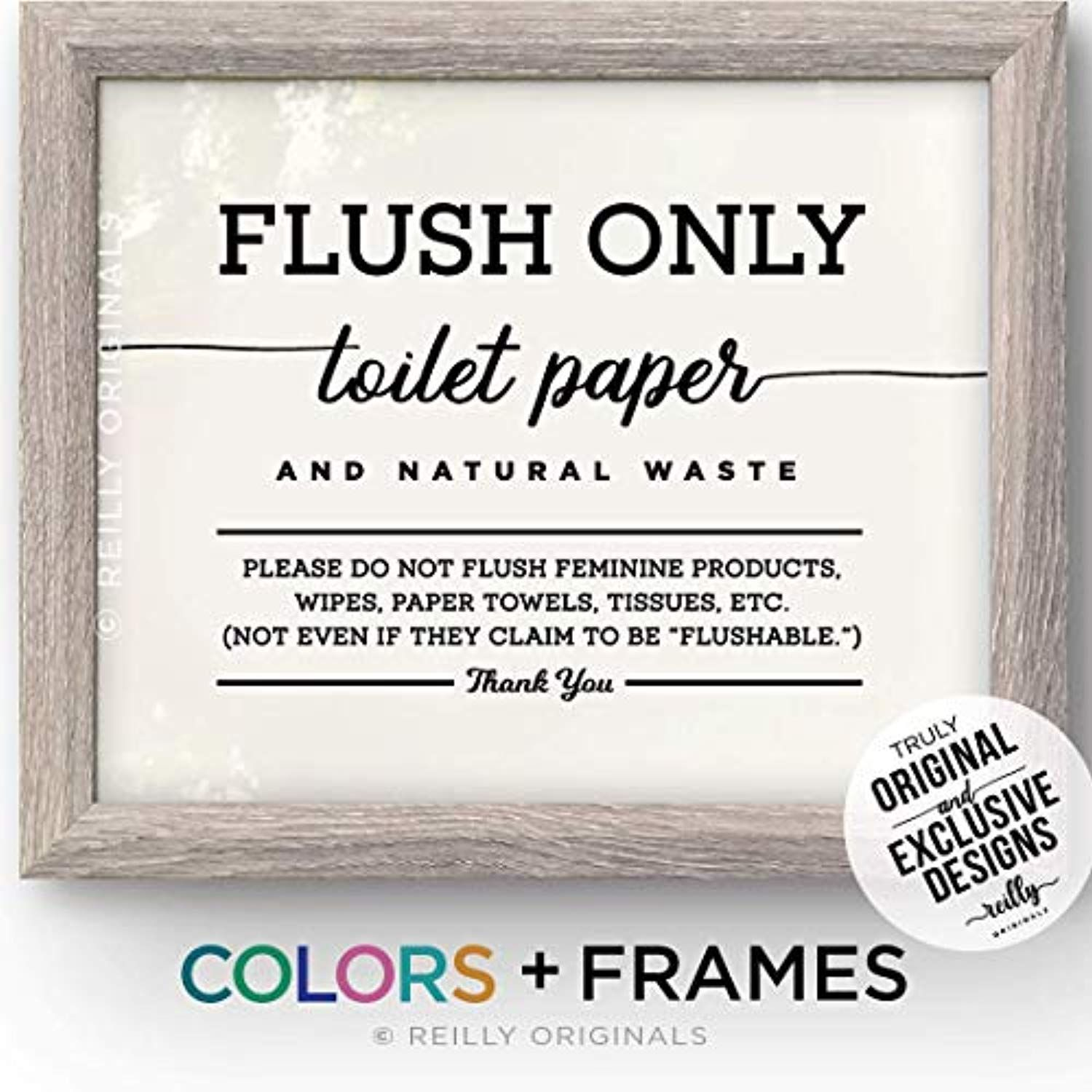 Do Not Flush Bathroom Sign Decor Septic System Sensitive Plumbing Only Toilet Paper No Tampons A Framed Or Unframe Bathroom Signs Septic System Flush