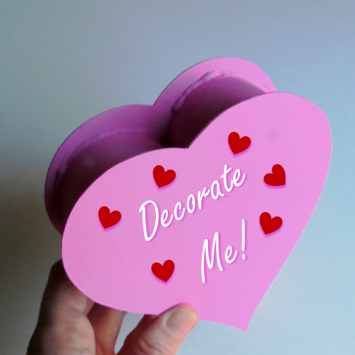 Make your own #cardboard heart box for #ValentinesDay ! From @Ann ...