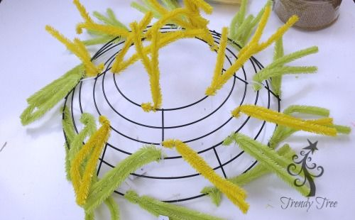 Photo of Sunflower Wreath with Ribbon Rose Center Tutorial – Trendy Tree Blog| Holiday Decor Inspiration | Wreath Tutorials|Holiday Decorations| Mesh & Ribbons